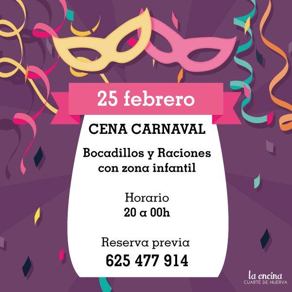 Cena Carnaval en La Encina Cuarte de Huerva