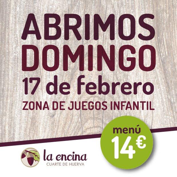Domingo 17 de febrero - Menú comidas por 14€